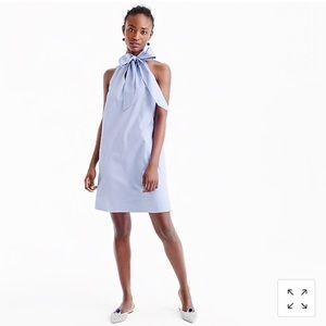 J. Crew Cotton Tie Neck Dress